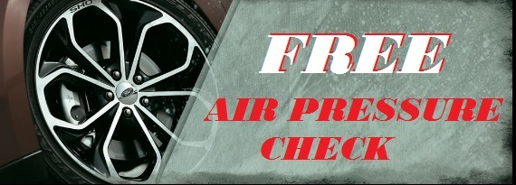 Free Air Pressure Check Alva, OK   Clinton, OK  Kingfisher, OK  Woodward, OK